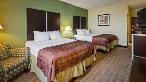 Double Queen Guest Room Hotel near Cleveland Airport